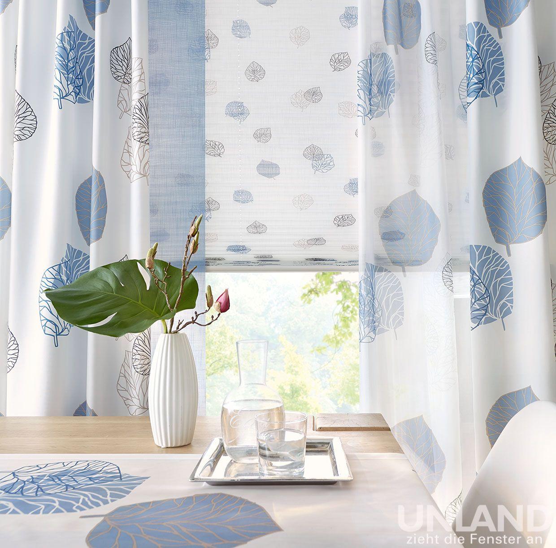 Unland Avik Ocean 003 Vorhang Fensterideen Gardinen Und Sonnenschutz Curtains Contract Fabrics Pleated Blinds Rol Gardinen Haus Deko Einrichtungsideen