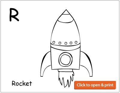 r is for rocket and r is for rainbow coloring sheets for children