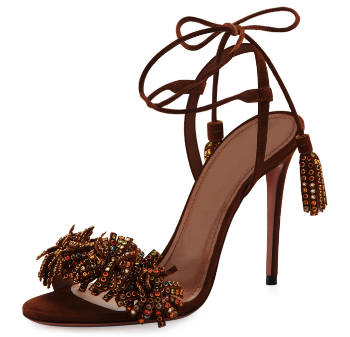 2d962feaea Shoe of the Day  Aquazzura Wild Crystal Fringed Sandals