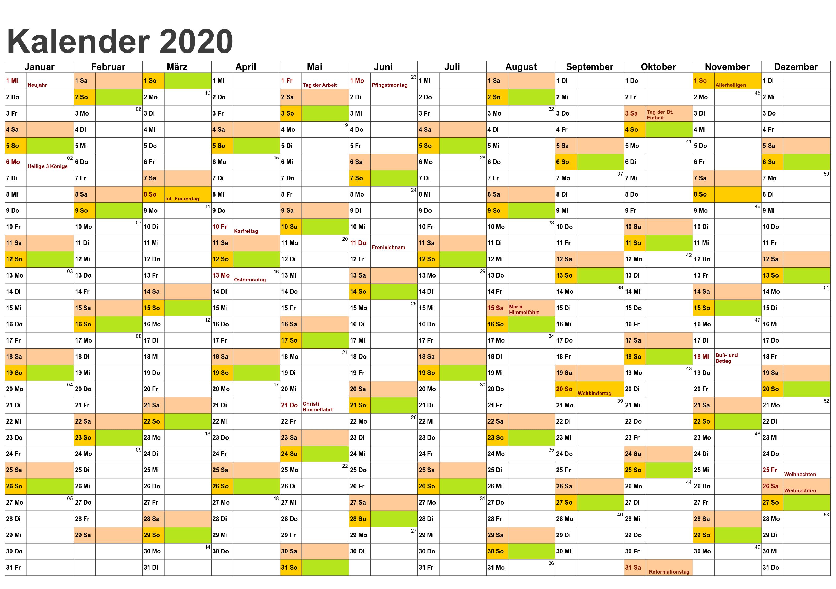 Pin Auf Feiertage 2020 Kalender