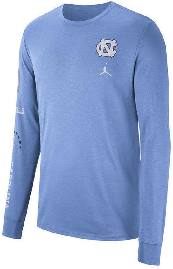 1662636e3e47 Nike Men s North Carolina Tar Heels Long Sleeve Basketball T-Shirt ...