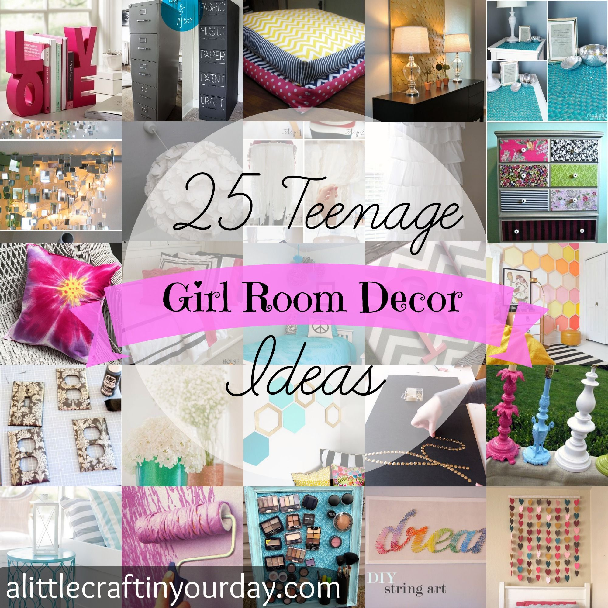 25 Teenage Girl Room Decor Ideas A Little Craft In Your Day Teenage Girl Room Decor Diy Room Decor For Teens Diy Girls Bedroom