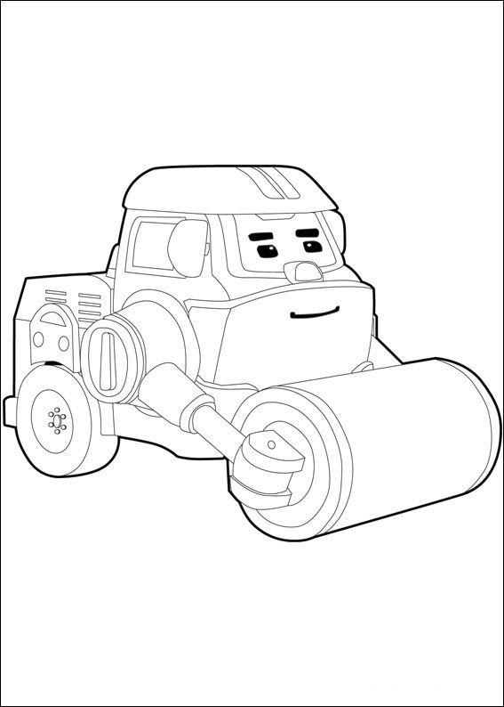 Dibujos para Colorear Robocar Poly 9 | Dibujos para colorear para ...