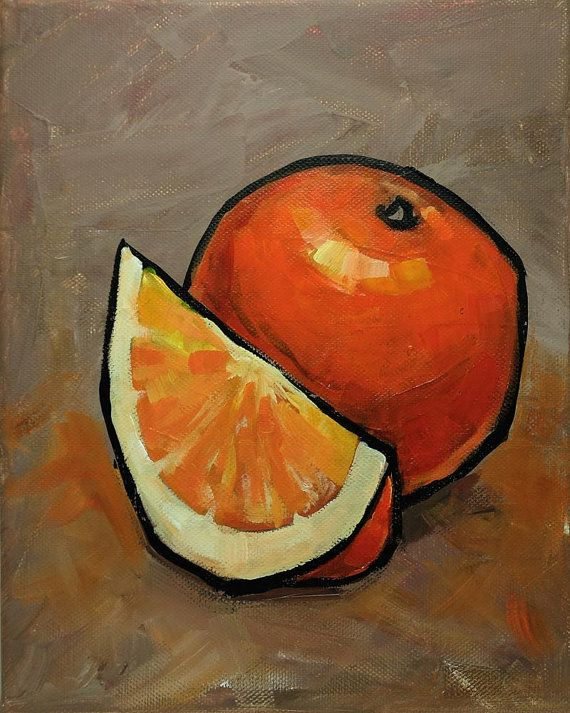 Art Acrylic Painting On Canvas Original Fruits By Kai In