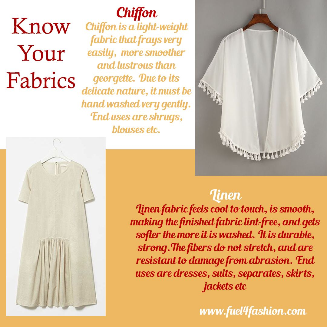 F4f Fashion Facts Know Your Fabrics Chiffon Vs Linen Fashion Fashiondesigner Fashionconsultant Bra Entrepreneur Fashion Startup Fashion Fashion Design