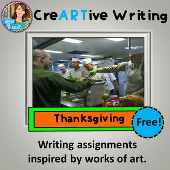 Thanksgiving is a great time to inspire creative writing. Refresh your writing prompts with this Thanksgiving-themed creative writing prompt. Students will create an original writing from a work of art. I call it creARTive writing. The assignment will take 40 minutes.