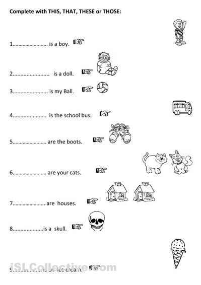 Pronoun Printouts This That These Those