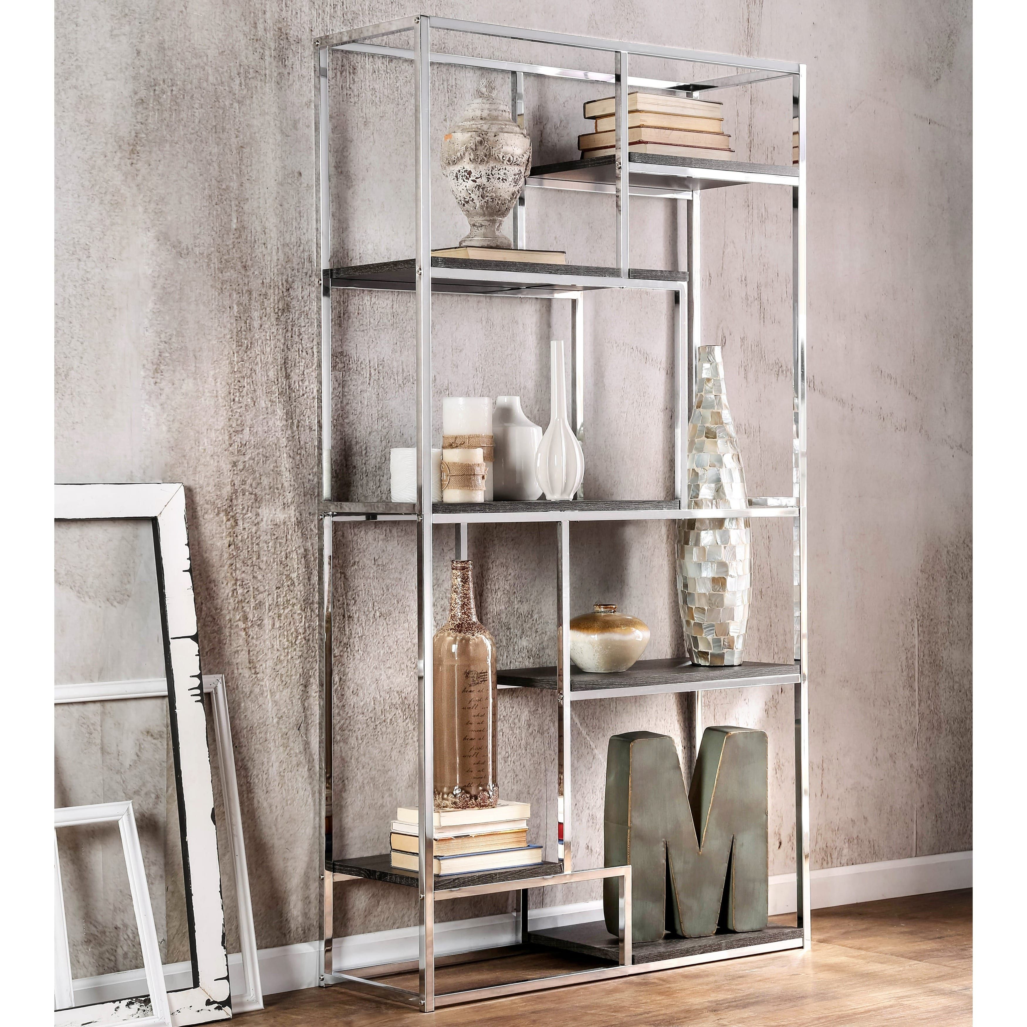 shelves hammered storages recommended bookcases ladder with to rack buy chrome steel bookshelf full pot size