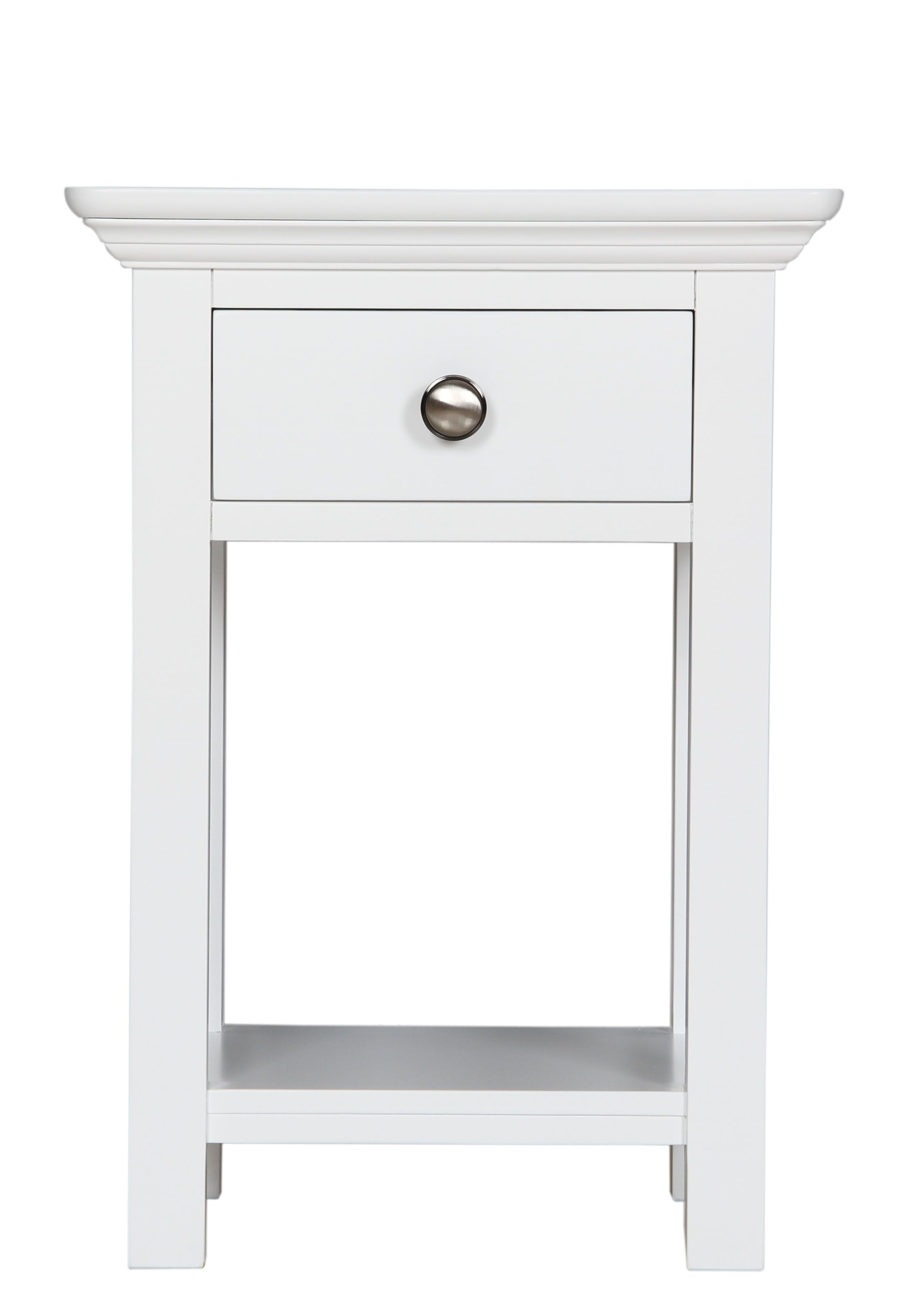 The Brilliant Small White Side Table Narrow Bedside Table