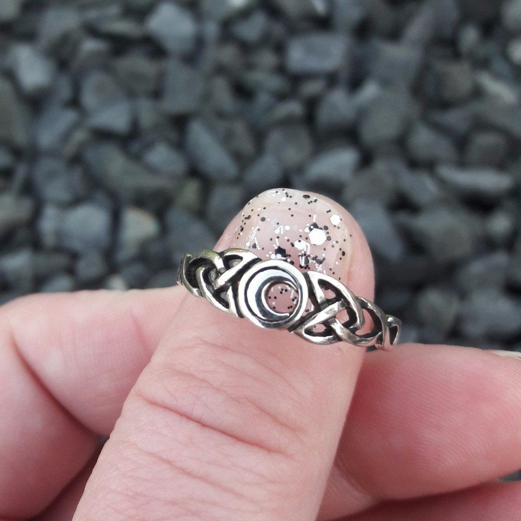 Sterling Silver Branch Ring | Sterling silver, Ruby lane and Moon