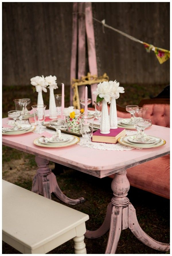 Shabby Chic Vintage Bridal Shower Sips & Sweets Party Houston Texas Vintage Rentals Event Design Styling