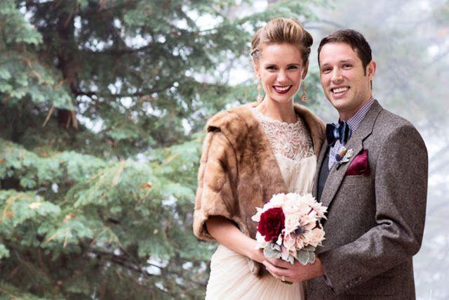 Vintage style for a woodland winter wedding @Derek Smith My Wedding #rockmywinterwedding