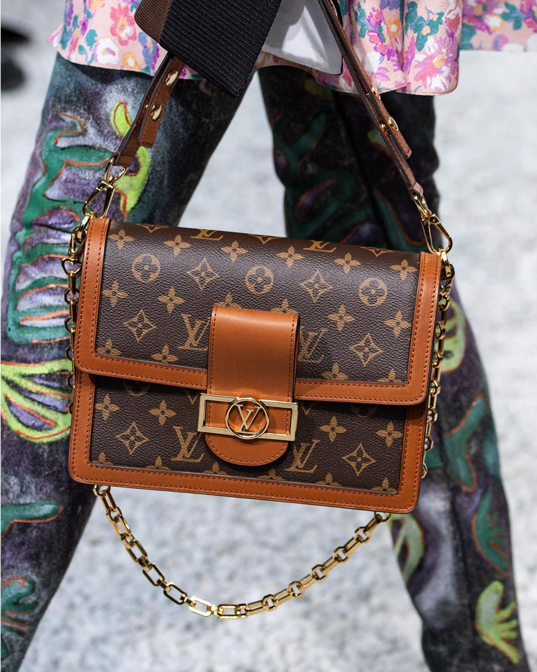 8b552a68f4e6 A closer look at a monogram handbag from the Louis Vuitton Cruise 2019  Collection by Nicolas Ghesquiere