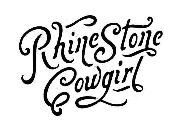 Rhinestone Cowgirl typography