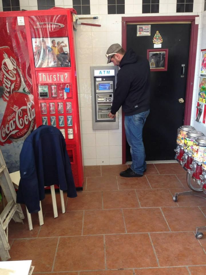 Mark finishing up with final testing after a custom Through the Wall GenMega GT3000 ATM installation in North Jersey