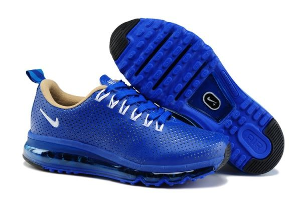 Women s Nike Air Max Motion 2013 NSW Leather shoes Royal Blue White ... 462a057497