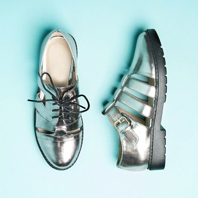 Make it #metallic this season! Update your look in the #Missguided Pewtera Brogues   Metiala Flat Shoes ✨ #Padgram