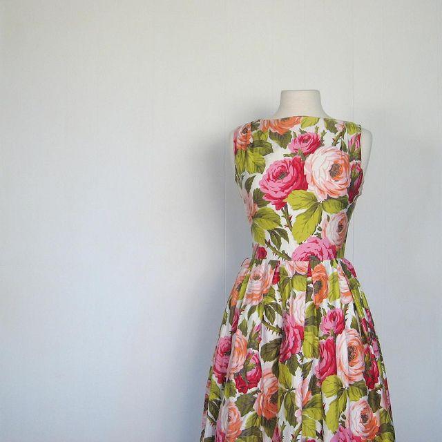 28++ Cabbage rose print dress trends