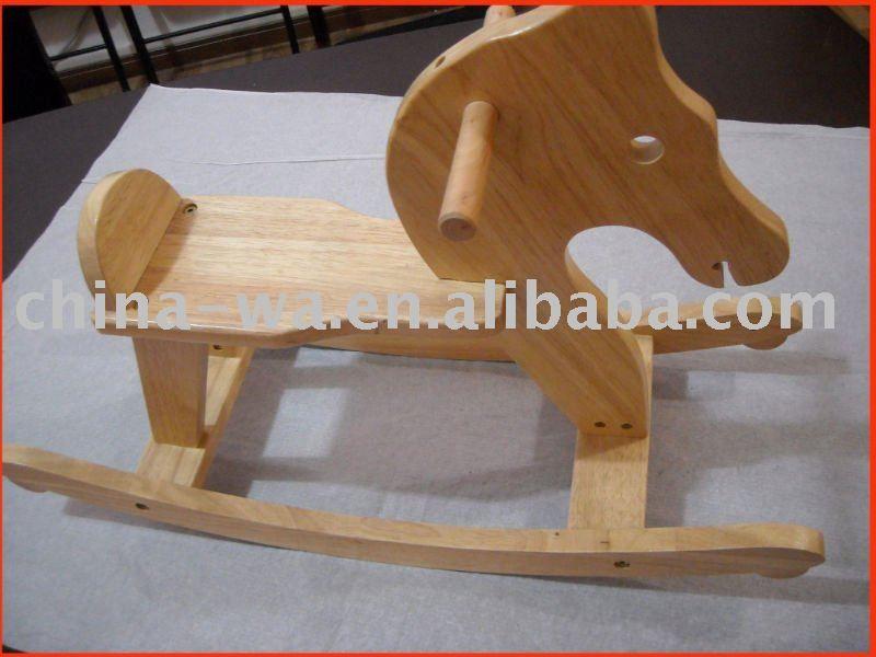 Madera animales mecedora sillas con forma de caballo para for Silla madera ninos