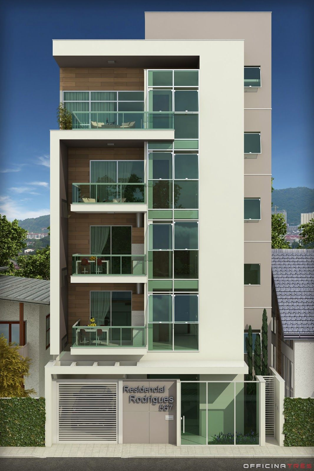 Officinatr s pr dio residencial em manhua u mg for Edificios minimalistas