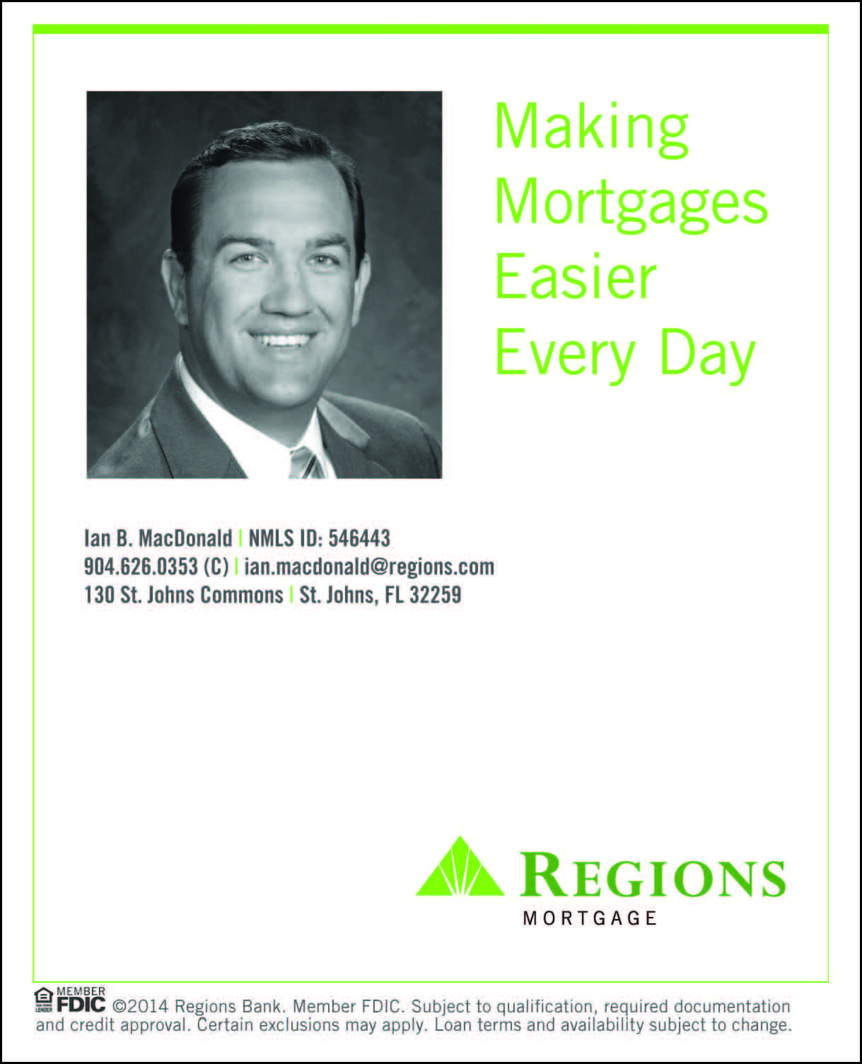 Mortgage Consultant Ian MacDonald Regions Bank How to