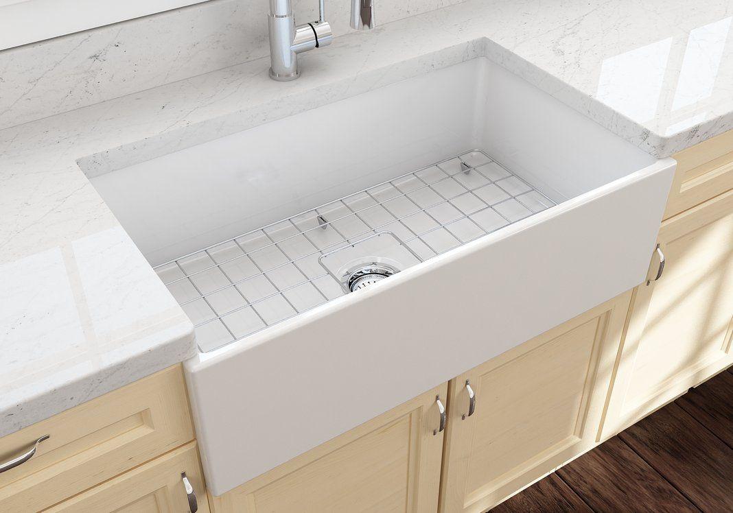 Bocchi Contempo 33 Fireclay Farmhouse Apron Single Bowl Kitchen Sink White 1352 001 0120 Farmhouse Sink Kitchen Fireclay Farmhouse Sink Single Bowl Kitchen Sink