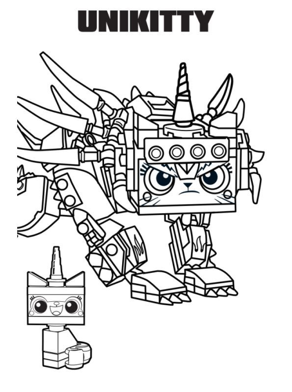 coloring page lego movie 2 unikitty coloring pages