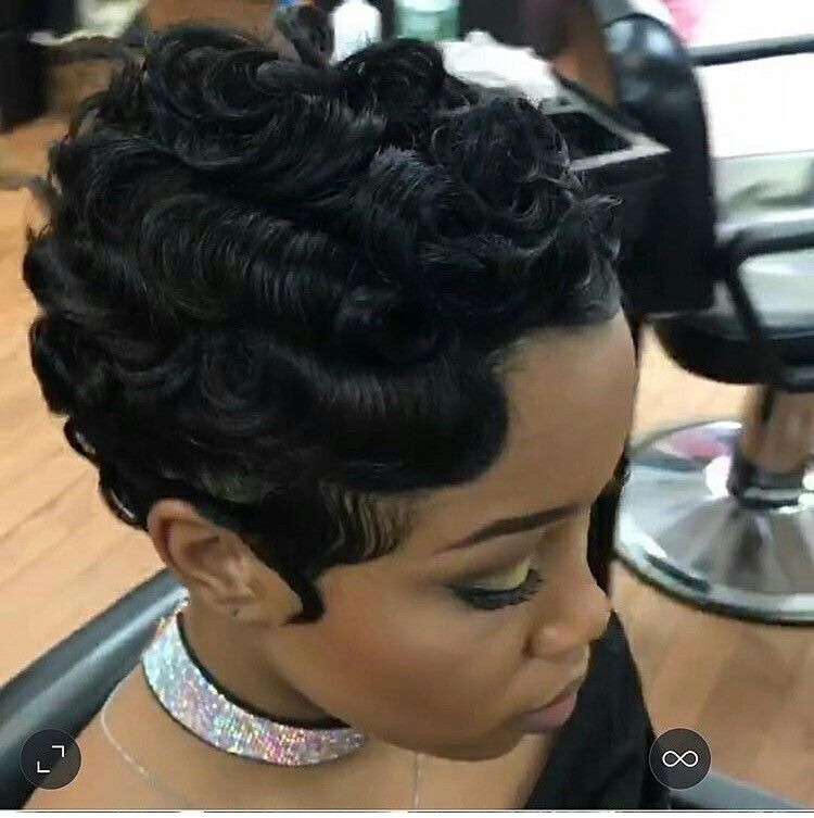 Trying To Grow My Out But I Love This Style Finger Waves Short Hair Short Hair Styles Finger Wave Hair