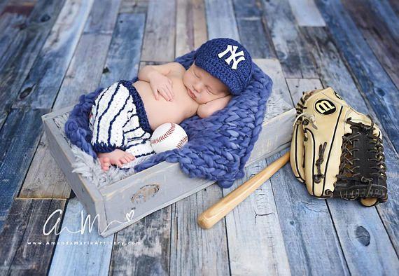 8d14ad775 Baseball outfit Baby Baseball Cap , pants,,, crochet baby shower ...