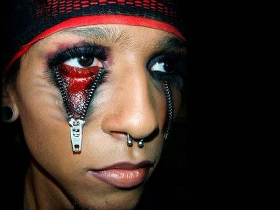 21 scary halloween make up ideas - Scary Faces For Halloween With Makeup