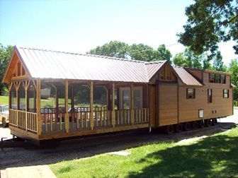 Tiny House with 16 ft Screened Porch | Park model homes ... on