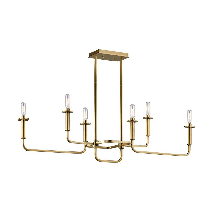 kichler dining room lighting armstrong. kichler lighting alden 11in 6light natural brass industrial linear chandelier 43362nbr dining room armstrong