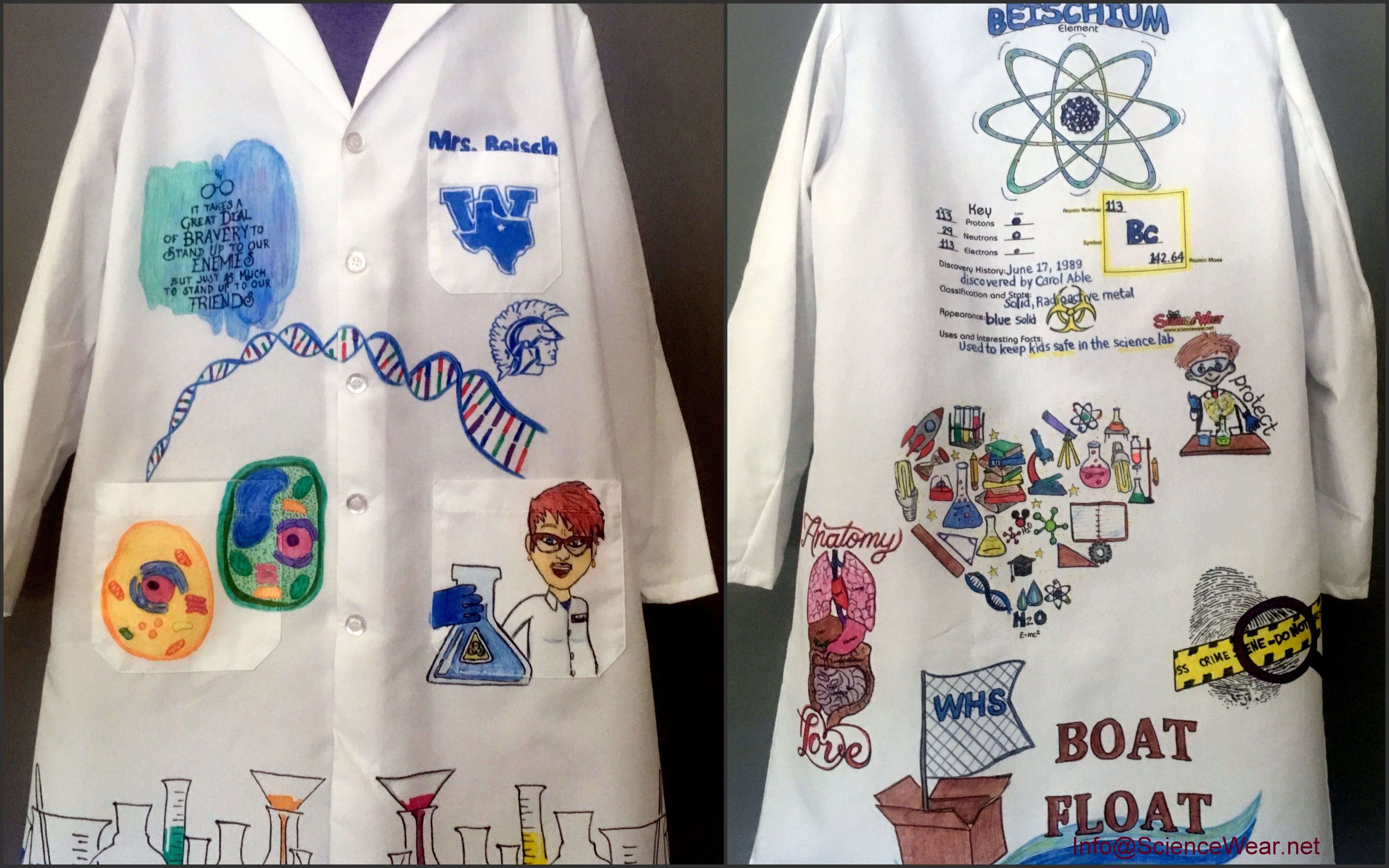 I Personalize And Illustrate Lab Coats Based On The