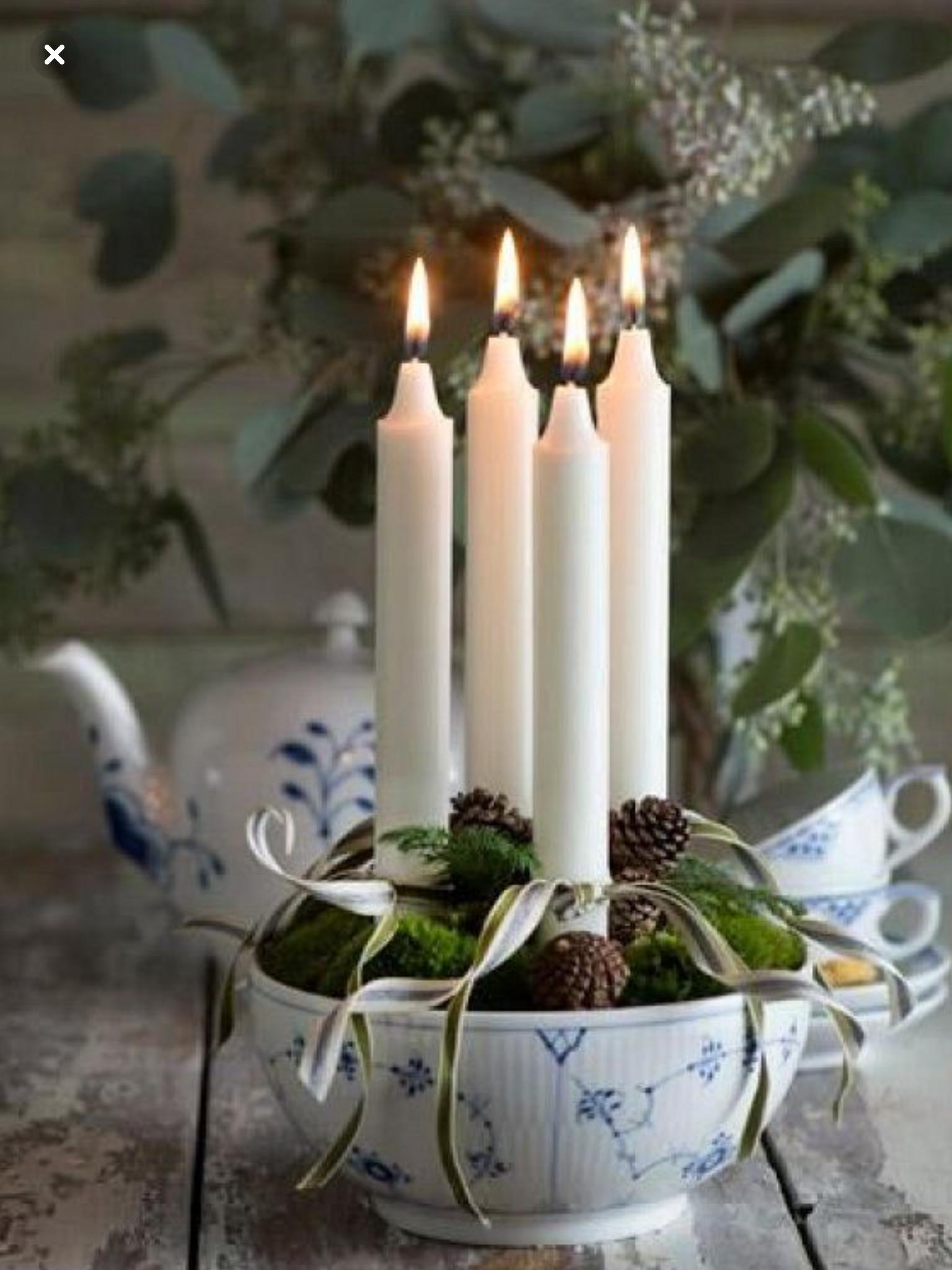 4 advent christmas skandinavische weihnachten wei e. Black Bedroom Furniture Sets. Home Design Ideas