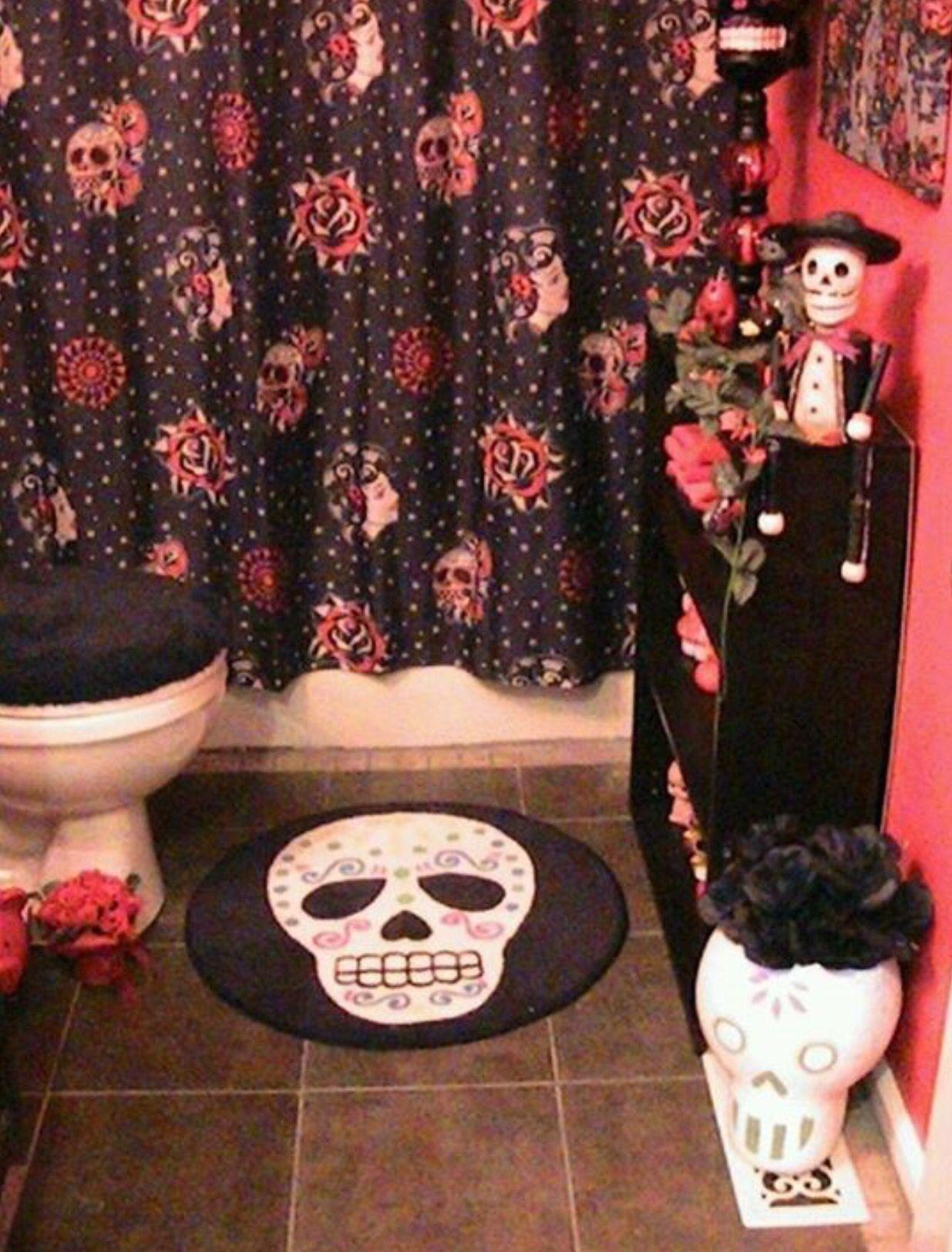 Dia De Los Muertos Bathroom What A Good Idea Decoracion Gotica