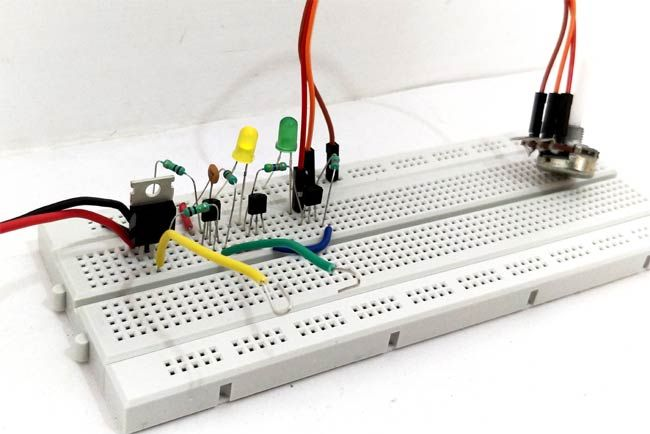 Lie Detector Circuit on breadboard   Electronic Circuits   Pinterest ...