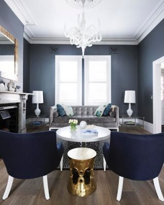 Navy Gray And White With Gold Highlights Gold Living Room Living Room Grey Blue Living Room