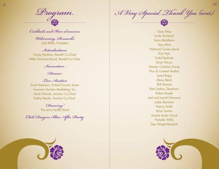 Event Program by Alexis Reich at Coroflot – Event Program
