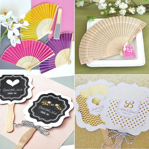 Shop paper or silk folding hand held fans and personalized ...