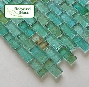 recycled glass tile by andihula Preserve Home Pinterest