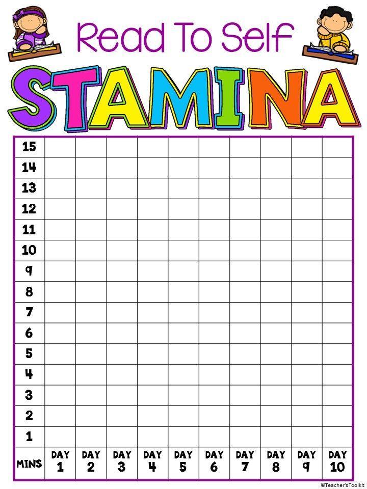 Reading Stamina Chart Free Reading Stamina Chart Read To Self Reading Stamina