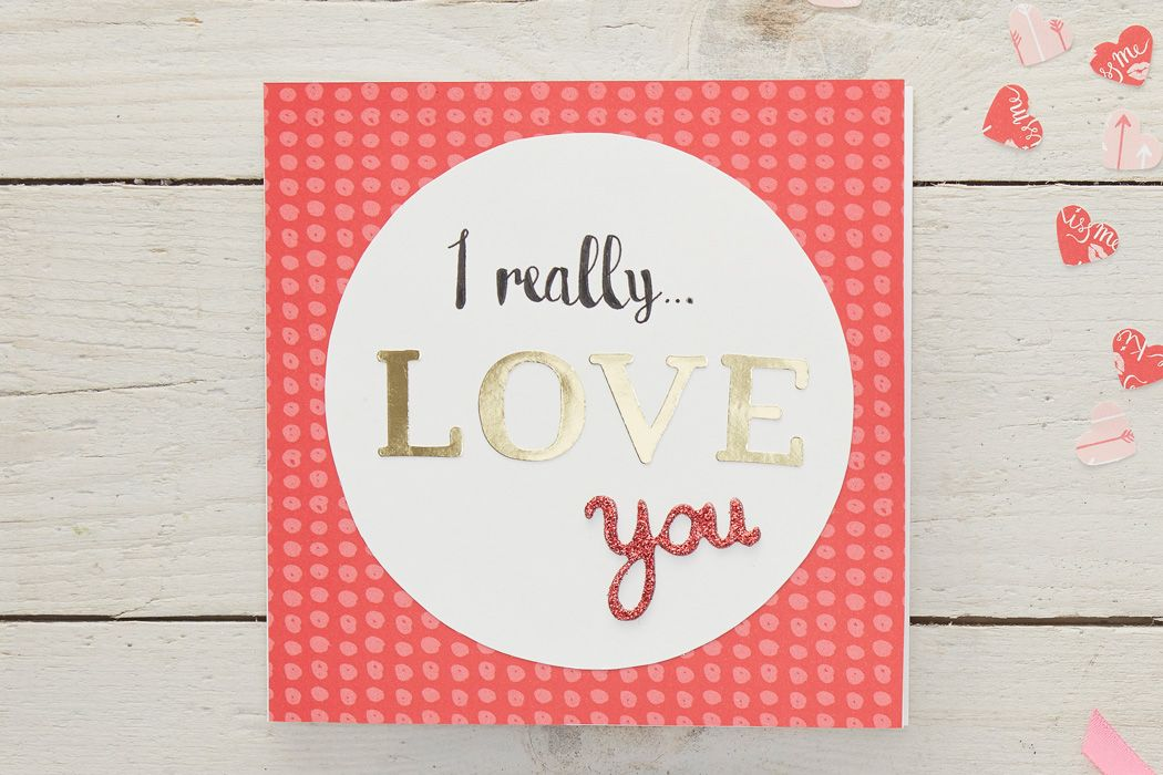 How to Make a Typography Valentine\u0027s Card Papercraft, Typography - valentines cards words
