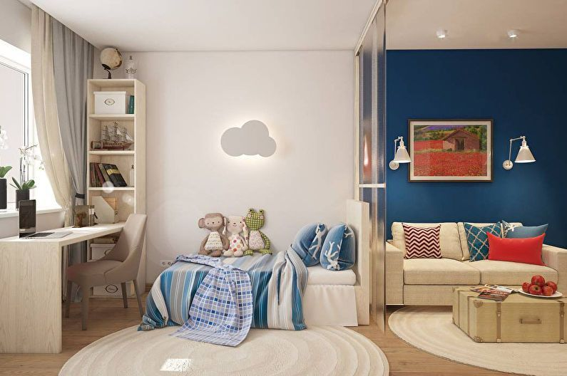 ребенка мебелью фото родителей зонирование для комнаты и