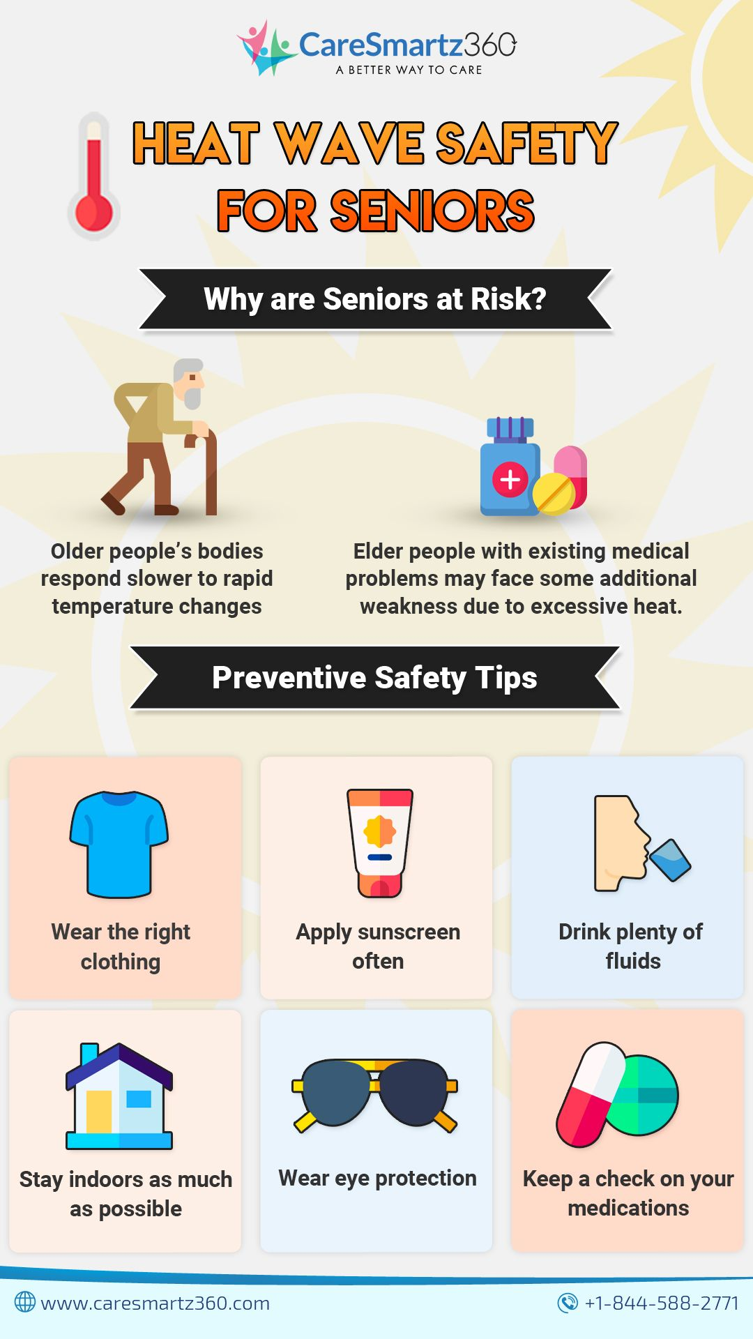 Heat Wave Safety for Seniors in 2020 Summer safety tips