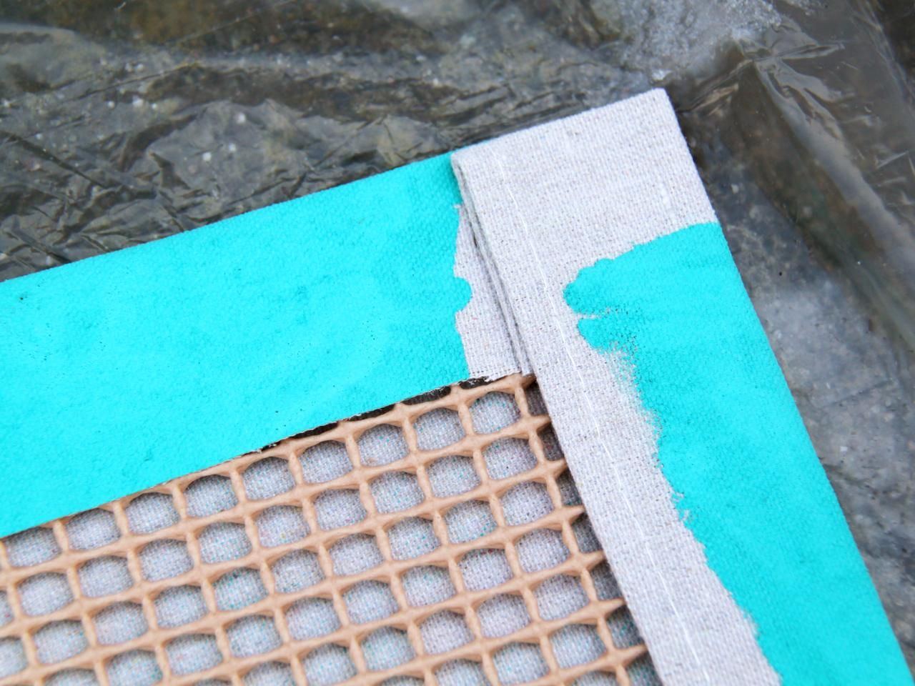 How To Turn A Canvas Drop Cloth Into An Outdoor Rug Patio Rug Diy Drop Cloth Rug Canvas Drop Cloths