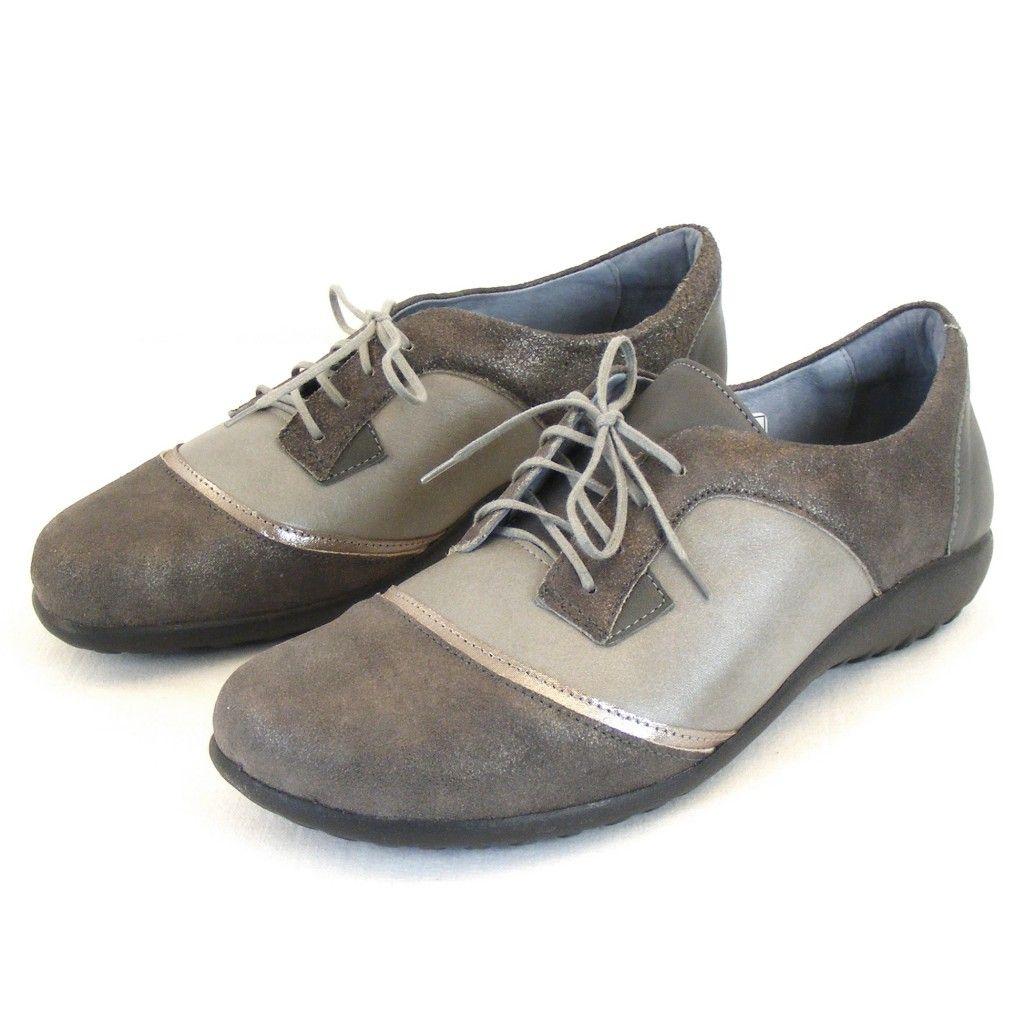 Naot Damen Schuhe Halbschuhe Harore Leder Grau Combi 10814 Wechselfußbett Schuhe Damenschuhe Halbschuhe Schuhe Damen Damenschuhe Halbschuhe
