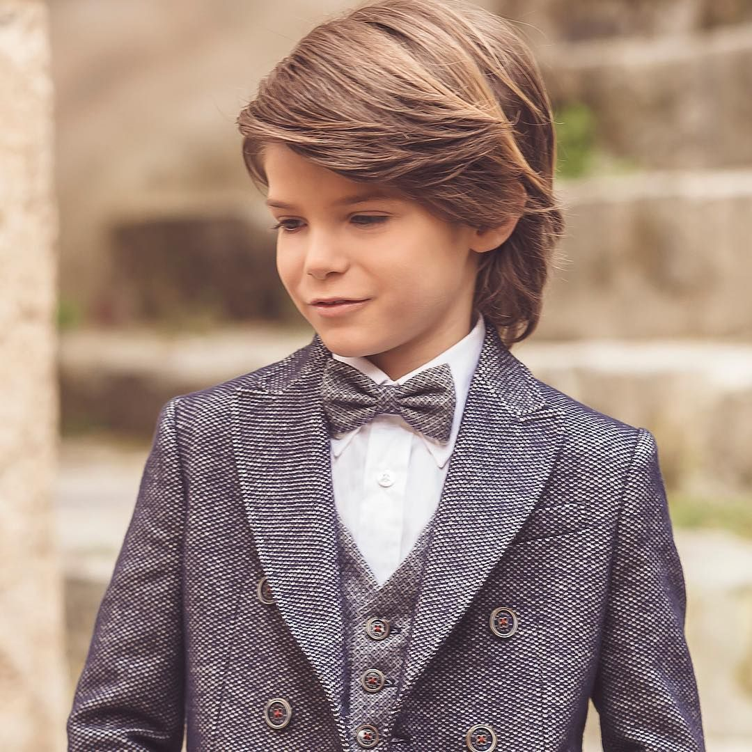 Cool charming boys long hairstyles for your kid black