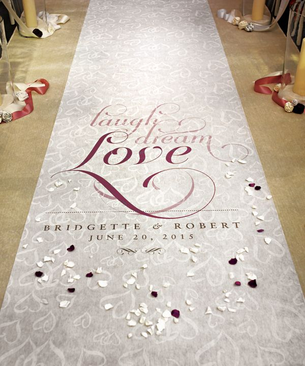 Hello 2012 This Year S Top 10 Wedding Trends The Details Aisle Runner Wedding Personalized Aisle Runner Wedding Runner