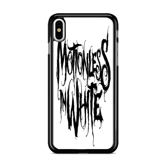 Motionless In White Logo Iphone Xs Max Case Miloscase Case Motionless In White Iphone