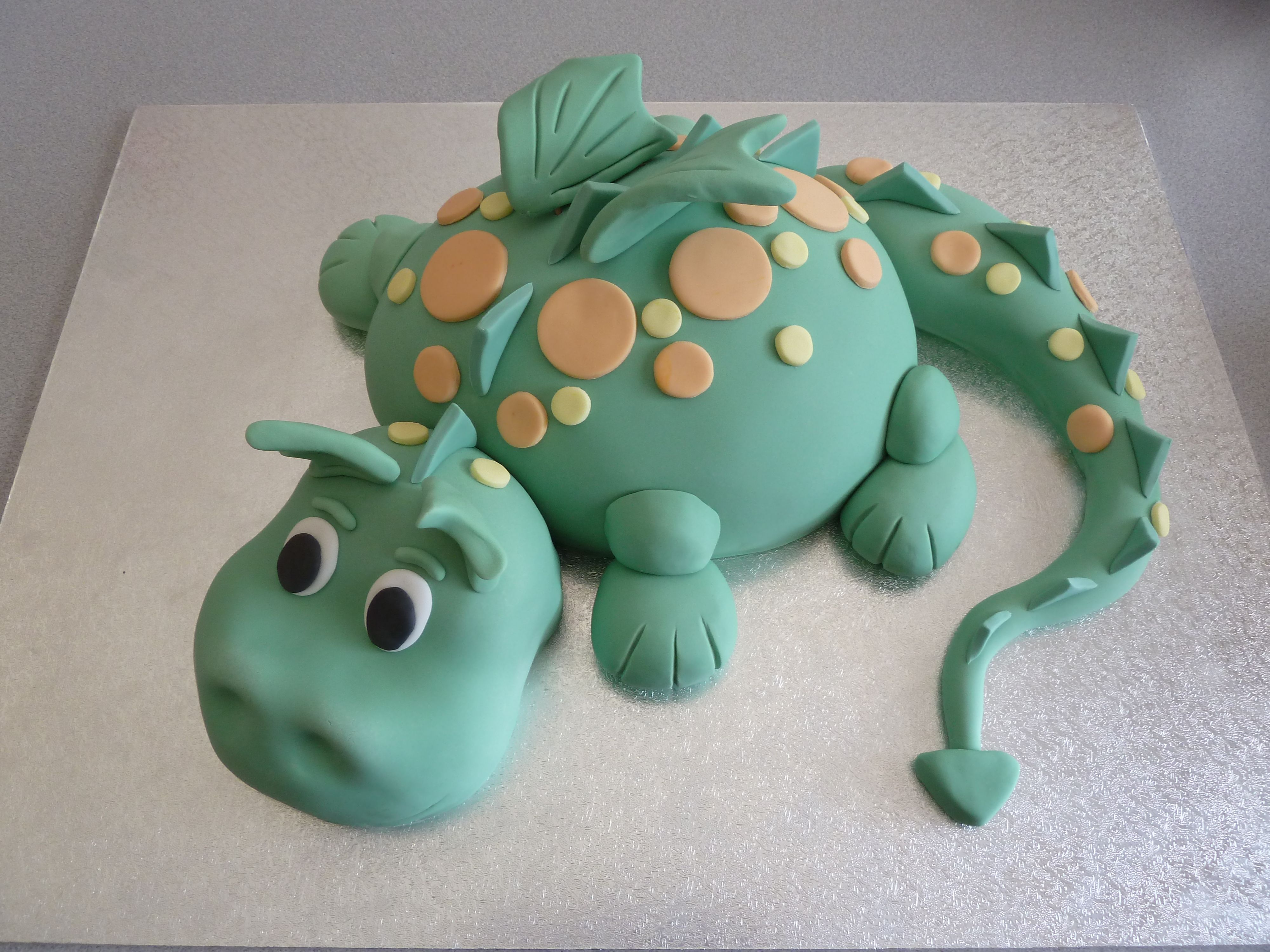 This Is My Favourite Kids Cake A Cute Little Green Dragon It Was A